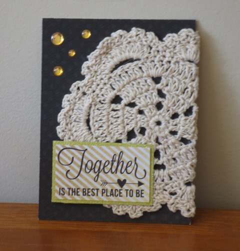 pocket scrapbooking card doily