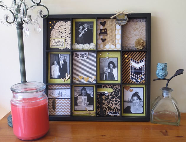 finished scrapbook frame