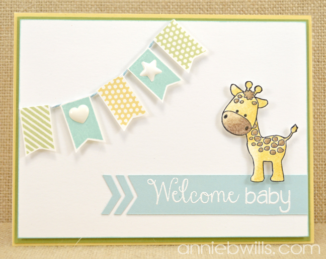 Welcome Baby Banner Card | Pink and Main Blog
