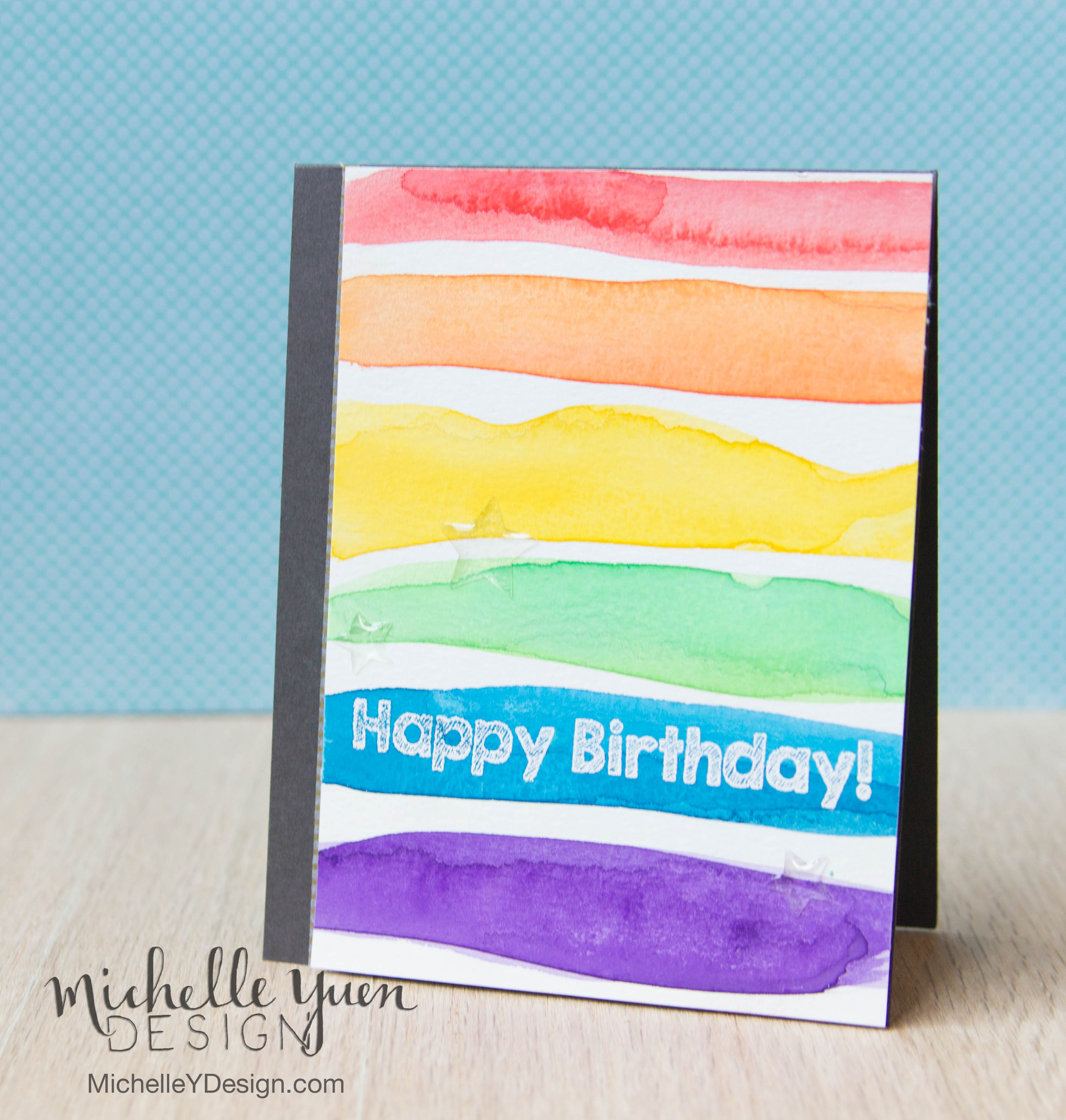 Basically You Can Make This Card With Just Watercolors And A Sentiment Stamp The Im Using Is From Awesome Birthday Wishes Set Pink