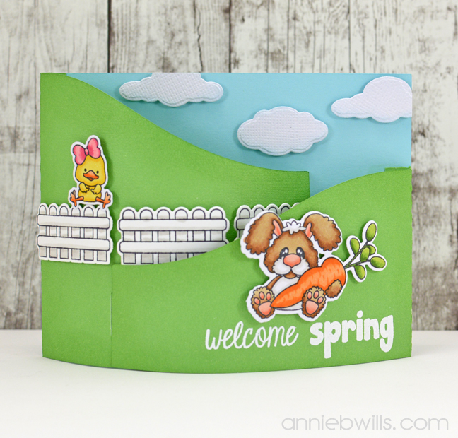 Welcome Spring Bendi Card by Annie Williams - Main