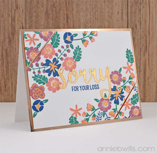 Rose Gold Sympathy Card by Annie Williams - Main