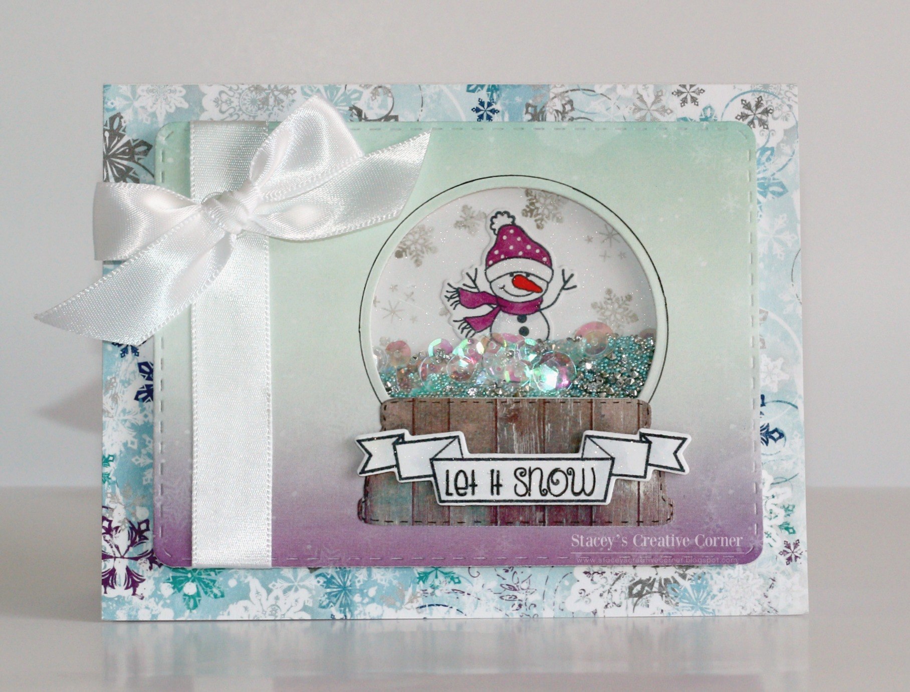 Popular Let It Snow Shaker Card | Pink and Main Blog QO06